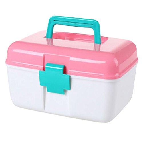 Familie Erste-Hilfe-Kits/Medizin-Speicher-Fall/Pill Box/Container-Rosa