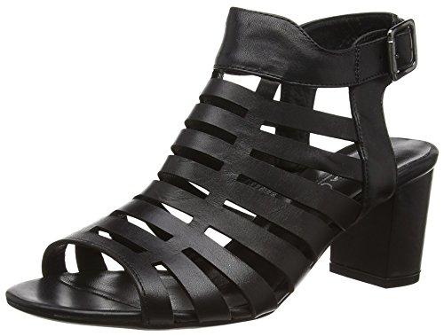 Andrea Conti 1461502 Damen Offene Sandalen mit Blockabsatz Schwarz (schwarz 002)