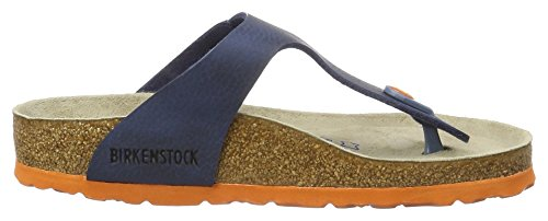 Birkenstock Gizeh Birko-Flor Softfootbed, Mules Mixte Adulte, Gris Blau (Desert Soil Blue)