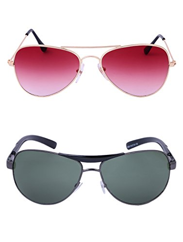Amour-propre AmourPropre Multicolor UV Protected Unisex sunglasses Pack of 2_(AM_CMB_LP_3257)