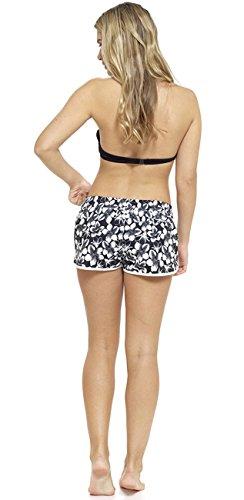 Asciugatura rapida, da donna, in cotone, motivo: Beach, Pantaloncini da uomo Black