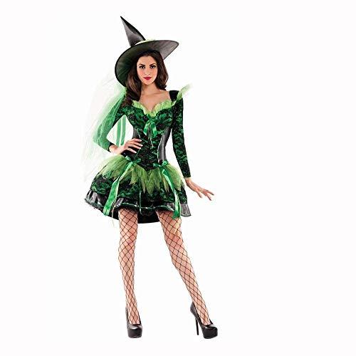 Fashion-Cos1 Wizads Kostüm Halloween Party Frauen Hexenkostüm Sexy Phantasie Magier Performances Kleid Vampir Spinne Hexe Rock Cos Anime