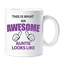 60 Second Makeover Limited This Is What An Awesome Auntie Mug Set Parents Present Auntie Gift New Baby Christmas Anniversary Cup Ceramic