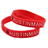 Relddd Silikon-Armbänder mit Sprüchen Austin Mahone Kautschuk Armbänder für Männer voraussichtlich Stücke