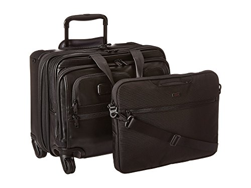 Tumi Alpha 2Deluxe Leather Brief with Laptop Case, Black - 096627D2