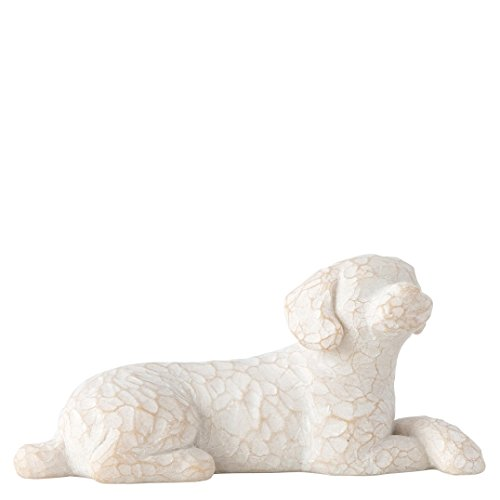 Willow Tree Love My Dog Small Lying Figurine (Dog House Ornament)