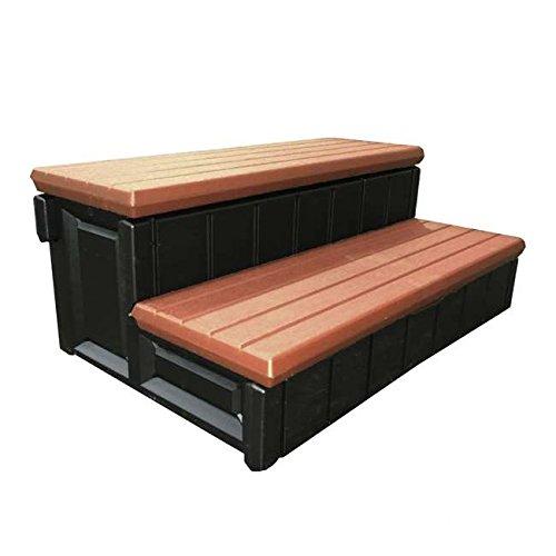 QCA Spas lass36-sc-r rot Holz Spa Aufbewahrung Schritt, 91cm, rot Holz -