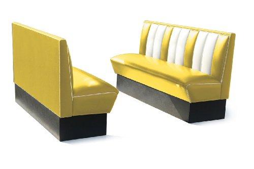 Bel-Air-Diner-Banco-8-colores-Retro-Fifties-HW-de-150-aos-50-Banco-cromo-Art-Deco