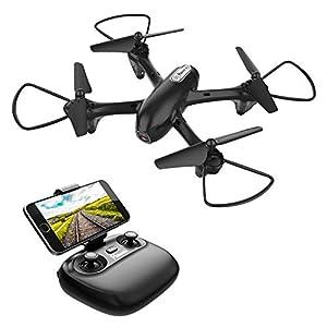 Potensic Dron con HD Cámara, U47 Cuadricóptero con WiFi FPV, Control Remoto y Mantenimiento de Altitud, Modo de Inducción de Gravedad, Negro