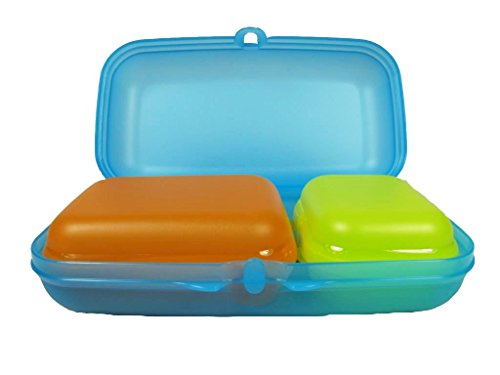 TUPPERWARE To Go Maxi-Twin Hellblau, Twin Limette Gr.1, Twin Orange Gr.2 A156 7341