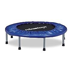 Idea Regalo - Relaxdays 10020801, Trampolino, Tappeto, Elastico e Pieghevole Unisex – Adulto, Blu, 22 x 95 x 95 cm