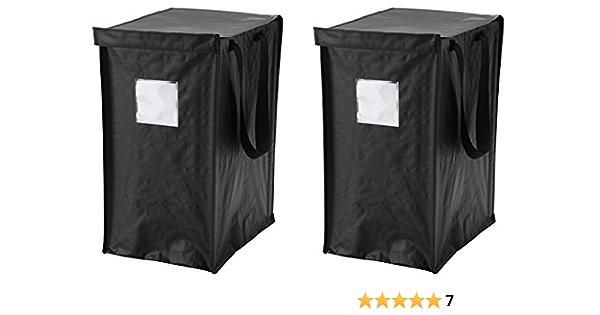 Dimpa Ikea Sac De Recyclage Lot De 2 Pour Papier Plastique Metal Ou En Verre Avec Couvercle Amazon Fr Cuisine Maison