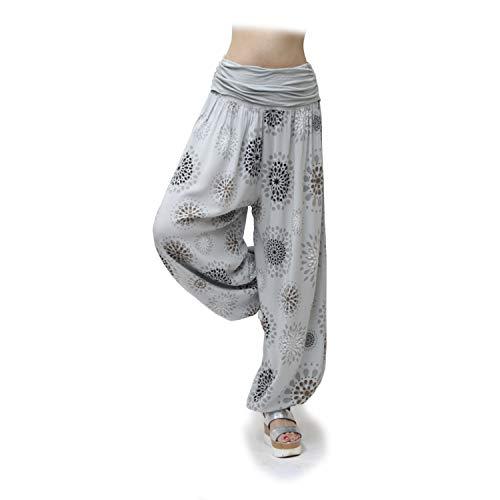 Glamexx24 Pantalons décontractés XXL Sarouel légers pour Femmes Pantalons décontractés Pantalons d'été avec Beaucoup de Motifs