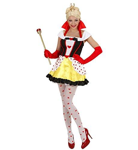 WIDMANN-Kostüm Königin der Herzen, in Größe - Königin Der Herzen Kostüm Perücke