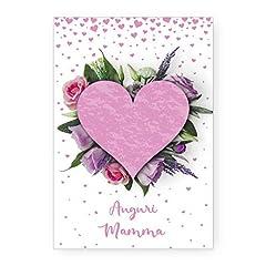 Idea Regalo - Biglietto Auguri Compleanno Cuore Di Mamma Idea Regalo Festa Della Mamma