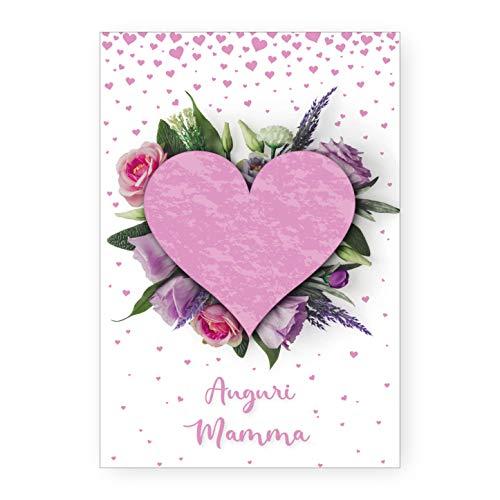 Biglietto auguri compleanno cuore di mamma idea regalo festa della mamma