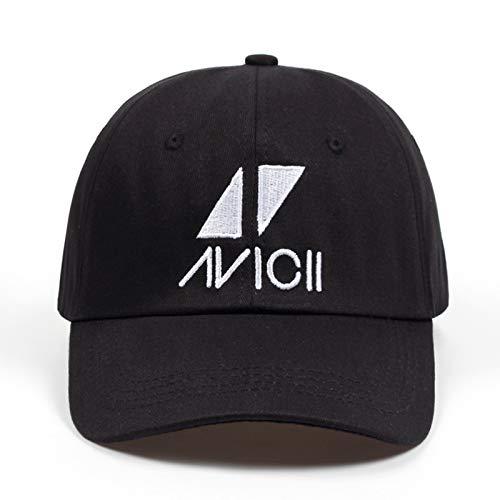WEY Caps Für Männer Frau, Avicii Stickerei Baseballmütze Sport Sonnenhut, Einstellbare Freizeit Sport Hut,Bild,Einheitsgröße