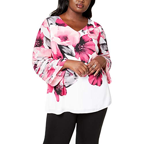 Tiered Tunic Top (Alfani Womens Plus Floral Print Tiered Tunic Top)