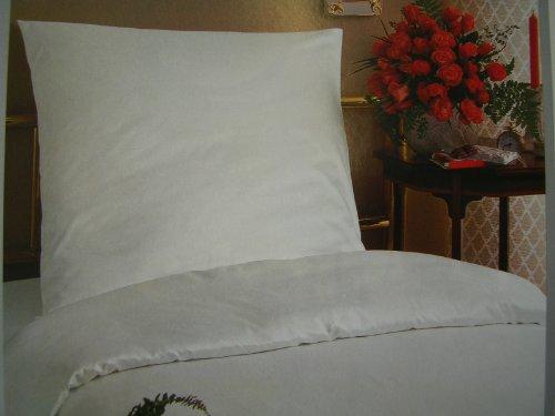 Bettwäsche Linon weiß G11 Hotelverschluss 135/200, Hotelbettwäsche