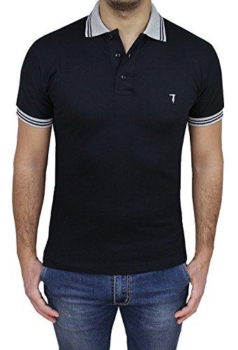Trussardi maglia polo uomo art 32t05al nero shirt maniche corte casual 100% cotone piquet (xl)