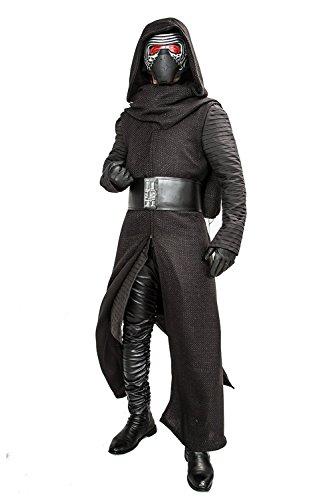 Custom Solo Kostüm Made Han - Kylo Kostüm Aktualisiert Version Deluxe Erwachsenes Coole Fancy Hooded Robe Halloween Kleidung mit Handschuhe Gürtel