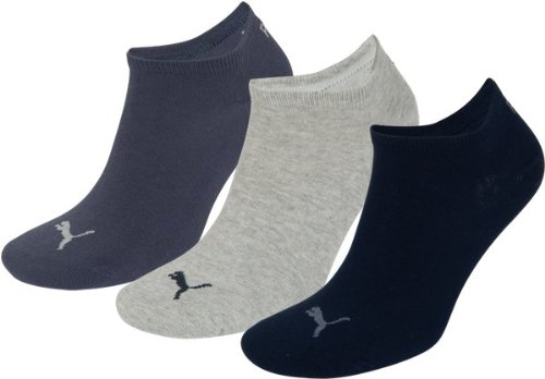 Puma Unisex Sportsocken 3er Pack, Navy/Grey/Nightshadow Blue, 43/46, 251025 (Navy Damen Rugby Blau)