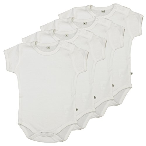 Pippi Unisex Baby Bluse Body Ss Ao-Printed (4-Pack),, Gr. 62 cm,Weiß (White)