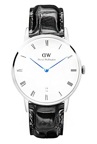 Daniel Wellington Men Analog Quartz Watch with Leather Strap DW00100108