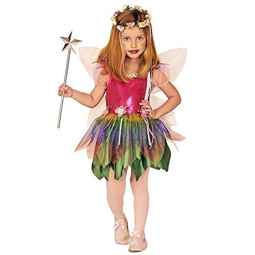 Nerd Kostüm Kind - Nerd Clear Regenbogen-Fee Kostüm für Kinder | 2-teilig: Kleid & Flügel | Größe 128 | ideal für Karneval & Fasching