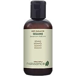 Sésamo - Aceite Vegetal Prensado en Frío 100% Puro - 100ml