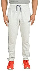 Trinity Mens Light Grey Sinker Cotton Trackpants(X-Large) Gym Wear Night Wear Lounge Wear