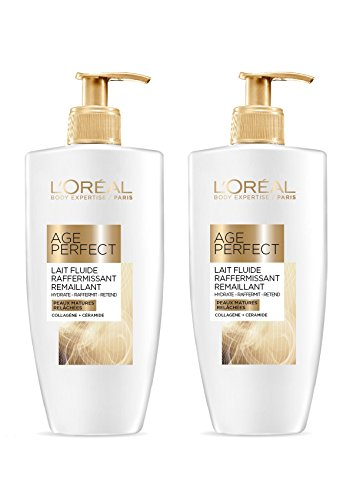 L'Oréal Age Perfect Lait Hydratant Raffermissant Corps & Jambes 250 ml - Lot de 2