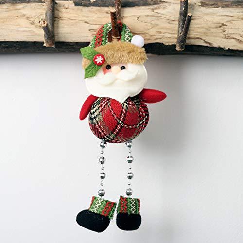 Scary Kostüm Santa - Daygeve Zuhause Party Deko, Anatomische Tracing, Medizinische Lehre, Halloween Dekoration Statue,Weihnachtsbaum-Verzierungs-Puppen-hängender Schneemann Santa Claus Door Window Decoration
