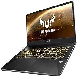 """Asus TUF765GE-EV242T PC Portable Gamer 17,3"""" Noir (Intel Core i7, RAM 8 Go, 1 to + SSD 256 Go, Nvidia GTX 1050Ti 4 Go, Windows 10) Clavier AZERTY Français"""