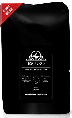 ESCURO Espressobohnen | 100% Arabica Kaffeebohnen aus Brasilien (Sul de Minas) | Schonend geröstet...