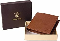 Styler King Men Tan Artificial Leather Wallet��(13 Card Slots)