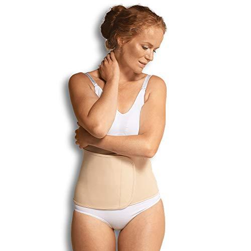 Carriwell verstellbares Bauchband mit Klettverschluss, unterstützt Rückbildung nach Schwangerschaft, Bauchbinde, reduziert Schwangerschaftsstreifen, natur, Größe: S/M - Bio-baumwolle Cami