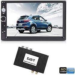 """Generic Lecteur multimédia de Voiture HD 2 DIN 7"""" avec récepteur TV numérique (GPS, Bluetooth, appels Mains Libres)"""
