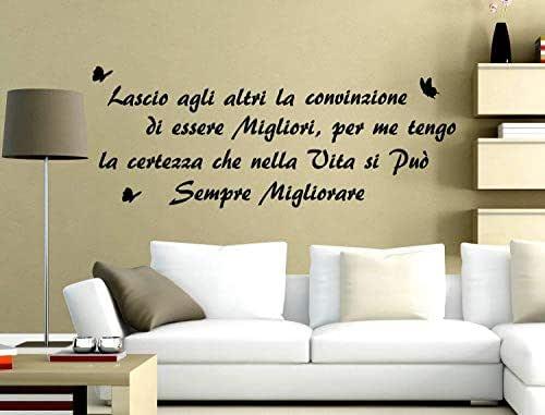 Adesivi Muro Frasi Marilyn Monroe Adesivi Murali Scritta Muro Wall Stickers Frase Citazione 120 CM Adesivo Murale Aforisma Decorazione interni Lascio agli altri la convinzione di essere migliori