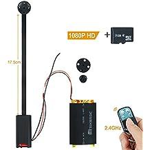 TEKMAGIC 8GB 1920x1080P HD Mini Botón de la Cámara Espía Usable Movimiento Activado Grabadora de Vídeo con Función de Grabación de Audio