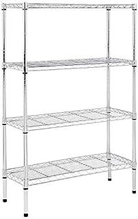 AmazonBasics 4-Shelf Shelving Unit, up to 160 kg per shelf, Chrome (B00NUS53CY) | Amazon price tracker / tracking, Amazon price history charts, Amazon price watches, Amazon price drop alerts