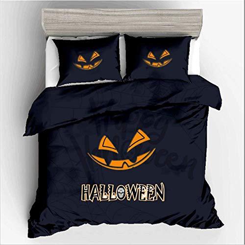 SHJIA Halloween Bettwäsche-Sets Twin Queen King Size Bettbezug Set Kissenbezug Bettwäsche Bedrucktes Bettwäscheset B 200x200cm (Halloween New Tag York Guten)