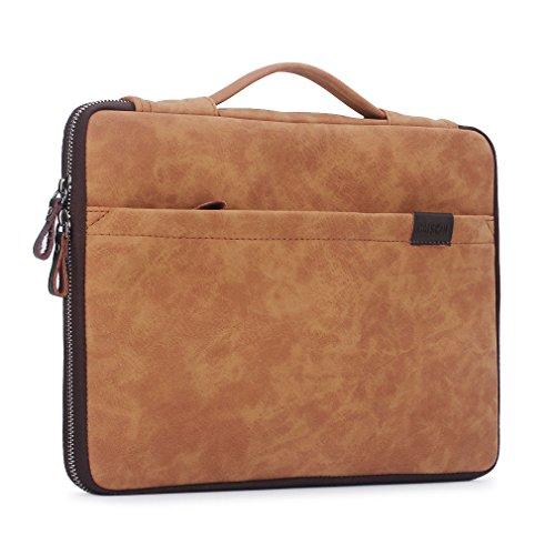 CAISON Hochwertiges Synthetik Leder Laptop Hülle Kasten Schutzhülle Tasche für 13.3