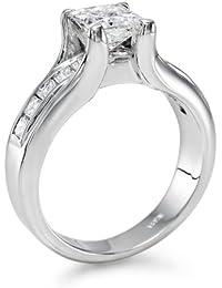 Solitaer Diamantring - Princess mit Zertifikat 1.60 Karat, 18 Karat (750) Gelbgold