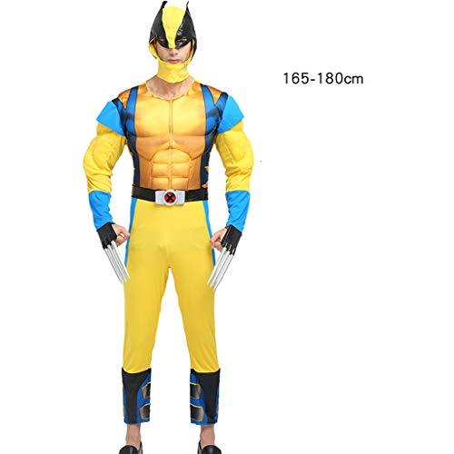 Erwachsene Cosplay Spiderman Kostüm Show Kleidung Halloween Avengers Muscle Iron Man Kostüm Wolverine-160-180CM