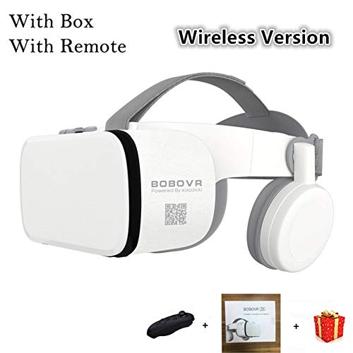 IN THE DISTANCE VR Helm 3D Brille Virtual Reality Headset Für Smartphone Smartphone Google Karton Schutzbrille Objektiv 3 D (Color : with Box with Remote)