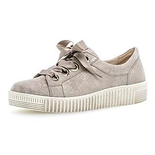 Gabor Damen Low-Top Sneaker 23.330.62, Frauen Halbschuh,Schnürschuh,Strassenschuh,Business,Freizeit,Muschel,35.5 EU / 3 UK