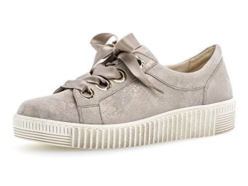 Gabor Damen Low-Top Sneaker 23.330.62, Frauen Halbschuh,Schnürschuh,Strassenschuh,Business,Freizeit,Muschel,37.5 EU / 4.5 UK