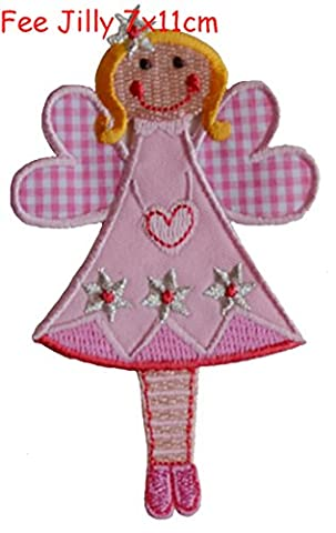 2 iron-on patches set Fairy Jilly 7x11 and Hase 6,5x10cm