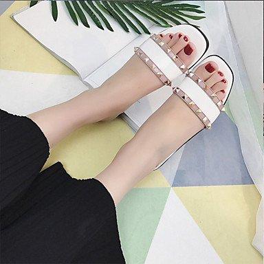LvYuan Sandali-Casual-Comoda-Piatto-PU (Poliuretano)-Multicolore White